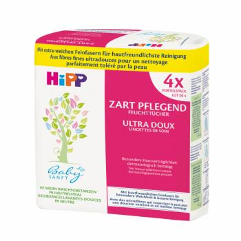 HIPP Babysanft Wet Wipes 4x56 sheets