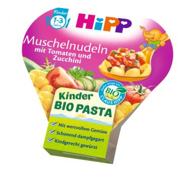 Hipp Kids Menu Organic Pasta with tomatoes and zucchini 250g - from 12 months