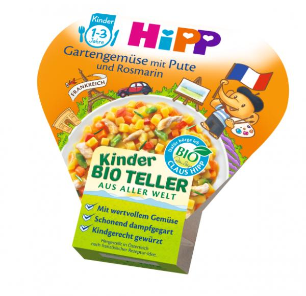 HIPP Kids Menu Organic Garden-Vegetables with poultry and rosemary 250g - from 12 months