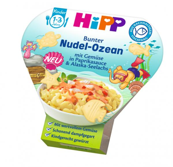 HIPP Kids Menu Organic Pasta-Ocean with vegetables and fish in a bellpepper sauce 250g - from 12 months