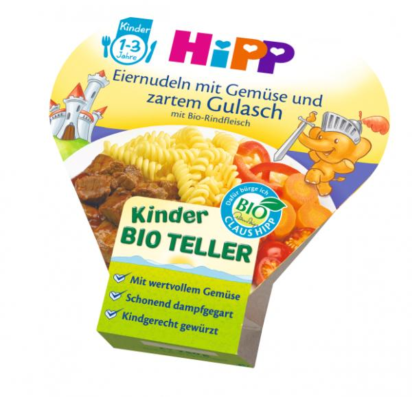 HIPP Kids Menu Organic Pasta with vegetables and mild goulash 250g - from 12 months