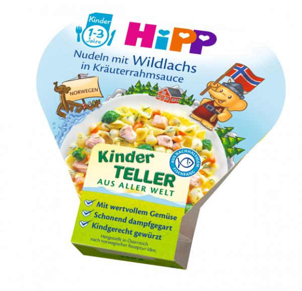 Hipp Kids Menu Organic Pasta with salmon with herbs in a creamy sauce 250g - from 12 months