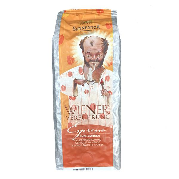 Sonnentor Espresso Coffee whole beans Viennese Temptation organic 500 g package